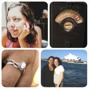 Marina and Janine get engaged down under with Mark  Silverstein Imagines engagement rings.