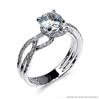 Mark Silverstein Imagines Gossamer Collection style 2035-18KW engagement ring