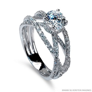 Mark Silverstein Imagines Gossamer Collection Style 2100-18KW Engagement Ring